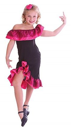 Small Black  Pink Girls Flamenco Girl Costume ** Read more reviews of the product by visiting the link on the image.