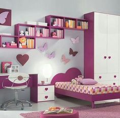 Small minimalist home interior design - An important factor in the comfort of a home is the interior design of . Modern Kids Bedroom, Kids Bedroom Sets, Pink Bedroom For Girls, Kids Bedroom Furniture, Bedroom Decor, Bedroom Colors, 6 Year Old Girl Bedroom, Childrens Bedroom, Trendy Bedroom