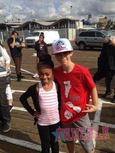 "Fanlala Shares Photo Of ""Jessie"" Stars, Skai Jackson And Cameron Boyce, At The 2012 Mattel Party On The Pier"