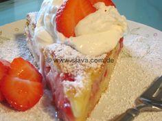 Schneller Erdbeer Pudding Kleckskuchen