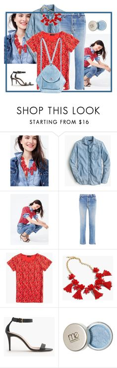 """Denim is a way of life - contest"" by gagenna ❤ liked on Polyvore featuring J.Crew, Vetements, MANU Atelier and vetements"