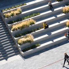 Waller Park by MSLA « Landscape Architecture Platform | Landezine Landscape Stairs, Landscape Architecture Drawing, Landscape And Urbanism, Park Landscape, Landscape Concept, Landscape Design, Urban Landscape, Garden Design, Amphitheater Architecture