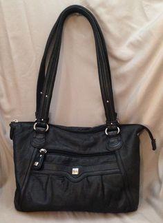 Stone Mountain Small Black Leather Tote-Purse-Shoulder Bag #StoneMountain…