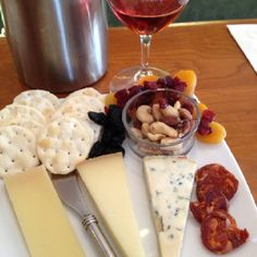 A nice cheese plate that goes well with our wine at Ceja winery ,yummy!