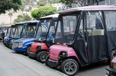 Residents use golf carts instead of cars on Catalina Island.