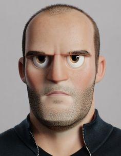 Jason Statham Cartoon by Florian Malchow | Cartoon | 3D | CGSociety