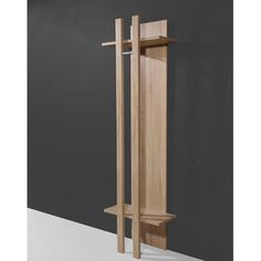 Prisma Coat Stand In Sonoma Oak - Coat Stands, Wooden, Metal, Oak, Vintage, Furnitureinfashion UK
