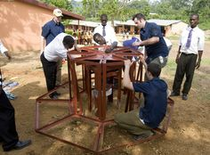 BYU and Empower Playgrounds install electricity-generating merry-go-round in Ghana