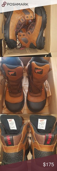Red wing Work Boots Brand new worn one time around the yard not in a work environment. Excellent condition Red Wing Shoes Shoes Boots