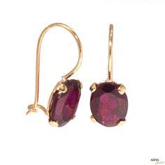 Garnet Earrings Garnet Drop Earrings Gold by AditaGold on Etsy Garnet Earrings, Women's Earrings, Garnet And Gold, Red Garnet, Gold Earrings Designs, Pearl Studs, Designer Earrings, Piercing, Etsy