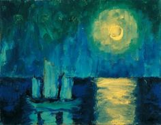 Emil Nolde  Mondnacht, 1914  *I saw this in Vienna at the Albertina