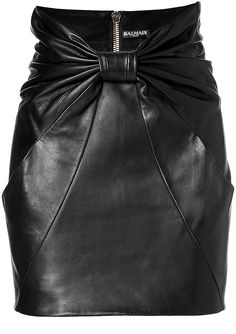 Balmain Leather Mini Skirt