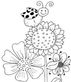 ScrapHappy Paper Crafter: Free Digis For Thursday - Flowers and Baking Applique Patterns, Craft Patterns, Embroidery Applique, Cross Stitch Embroidery, Embroidery Designs, Flower Patterns, Coloring Book Pages, Coloring Sheets, Copics