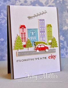 Well not really. I love my quiet country lifestyle, but I have say I adore this cute stamp set City Scene, by Papertrey Ink! I could play f...