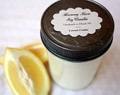 Lemon Cookie Soy Wax Candle in 8 oz. Jelly Jar