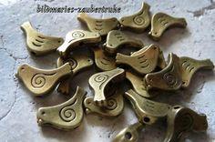 Vögelchen-+20+St.Metallperlen+von+bildmaries-zaubertruhe+auf+DaWanda.com