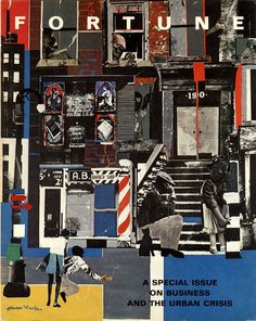 ROMARE BEARDEN, Fortune Magazine special issue on urban crisis, cover art. Writers and publishers pay homage to the ability of Romare Bearden's art to speak to the culture, politics, and history of America. Collages, Collage Artists, African American Artist, African Art, American Artists, Massimo Vignelli, Milton Glaser, Photomontage, Cover Art