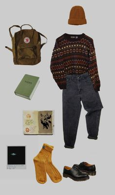 Fresh and trendy & # - My style - - Outfit ideen - Winter Mode Vintage Outfits, Retro Outfits, Grunge Outfits, Grunge Fashion, 90s Fashion, Fall Outfits, Casual Outfits, Fashion Outfits, Korean Fashion