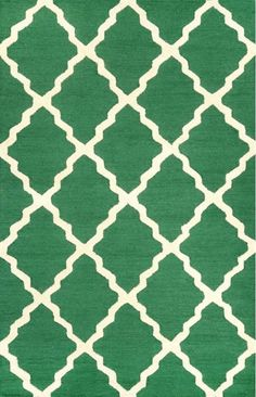 nuLOOM Rugs Emerald Hand Hooked Marrakech Trellis Hand Hooked 100% Wool Contempo 3 1/2 x 5 1/2 Home Decor Rugs Rugs