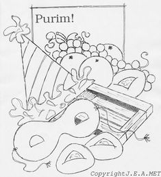 purim coloring pages to download and print for free
