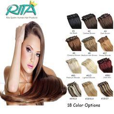 18 Color Brazilian Virgin Human Hair 7pcs Brazilian Straight Clip In Human Hair Extensions  Aplique Tic Tac Cabelo Humano