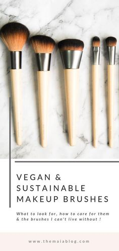 The best vegan make-up brushes and how to care for them - # . - Natural Makeup Blackgirl - Make Up İdeas Make Up Tools, Best Makeup Brushes, It Cosmetics Brushes, How Often To Clean Makeup Brushes, Natural Makeup Brands, Best Makeup Products, Beauty Products, Cosmetic Brush Set, Makeup Brush Set