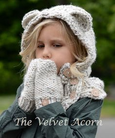 KNITTING PATTERN  Polarynn Bear Set 12/18 month  by Thevelvetacorn