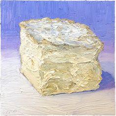 """Pierre Robert, a classic frechy creamy delight. Eat it like gooey heaven.  Sold, 8x8"""" oil on panel www.mikegeno.com"""