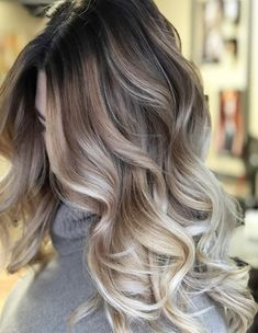 Top 15 Best Balayage Blonde Curly Hairstyle 2018