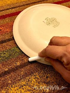 Lay a dinner plate on your door mat to make your guests smile when they walk in