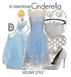 """Cinderella"" by leslieakay ❤ liked on Polyvore featuring Ben-Amun, Chi Chi, Oscar de la Renta, Michael Antonio, INC International Concepts, Kenneth Jay Lane, women's clothing, women's fashion, women and female"