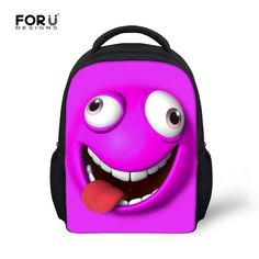 FORUDESIGNS Cute Little Student Kids School Bag Children s Emoji Funny Book  Bags for Kindergarten Baby Boy Girl Lovely Schoolbag  Affiliate 53b83999dc