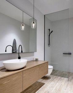Minimalist Bathroom Design, Minimalist Home Decor, Modern Bathroom Design, Minimalist Interior, Bathroom Interior Design, Modern Interior Design, Bathroom Designs, Kitchen Interior, Minimalist Home Design
