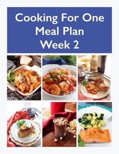 This Cooking For One Meal Plan includes recipes, a grocery list and cooking tips. These meal plans are ideal for anyone cooking for one or two people and is designed for people who live on their own, a parent who wants to indulge themselves while their kids have their favorites, couples and caregivers.