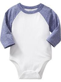 Raglan-Sleeve Bodysuits for Baby