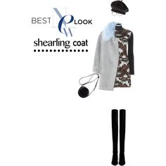 Loving my new coat! by joanna46-1 on Polyvore featuring polyvore, fashion, style, Marni, Rebecca Taylor, Stuart Weitzman, 3.1 Phillip Lim, Linda Farrow, Marc by Marc Jacobs, trending, beret, sweaterdress, OverTheKneeBoots and shearlingcoat