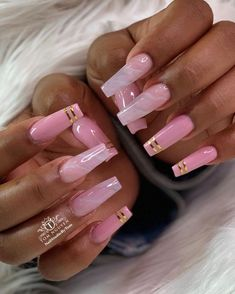 Installation of acrylic or gel nails - My Nails Summer Acrylic Nails, Best Acrylic Nails, Acrylic Nail Designs, French Acrylic Nails, Aycrlic Nails, Swag Nails, Coffin Nails, Bling Nails, Acryl Nails