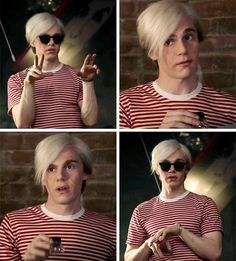 """Join The Cult  (@ahscultdaily) """"Evan Peters as Andy Warhol."""""""