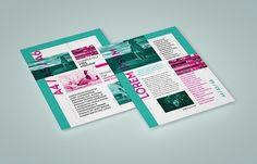 Vertical leaflet mockup set