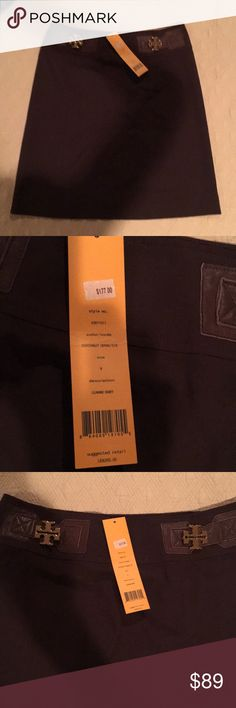 Tory Burch Brown Skirt Size 8 NWT Brown Tory Burch Skirt Size 8. Runs a little large and low on hip fit. Tory Burch Skirts Midi