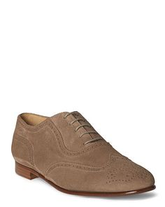 Quintin III Suede Oxford - Ralph Lauren Ballets, Flats & Sneakers - RalphLauren.com