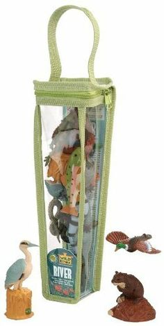 Wild Republic Nature Tubes - River Animals by Wild Republic. Save 11 Off!. $9.83. River Otter, Alligator, Piranha, Bullfrog, Beaver, Salmon. Made from Phthalate-free PVC plastic. Packaging: Soft-sided tube with carrying handle and easy-to-use zipper.. River Animal Nature Tube 12 Piece Playset. Trout, Heron, Anaconda, Striped Salamander, Duck. From the Manufacturer                Explore the wonders of River Animals with our River Tube line. Each comes with an assortment of durable, hig...