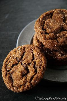 Triple Ginger Crinkles - The Ultimate Ginger Cookies - Will Cook For Friends