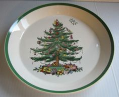 SPODE CHRISTMAS TREE PIE SERVING DISH-MADE IN ENGLAND