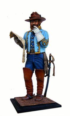 Generale Jeb Stuart, esercito confederato. Guerra civile americana 1861.