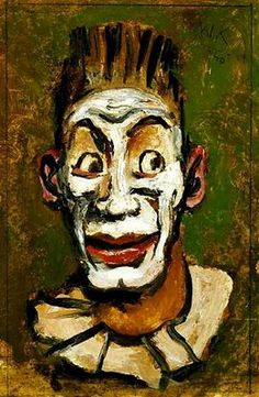 """Circus and vaudeville in the portraits of Walt Kuhn, """"Frightwig"""" Oil on hardboard, 1940."""