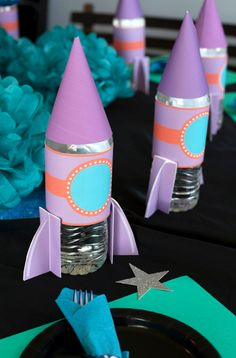 Astronaut Space Party Ideas - Frog Prince Paperie - Astronaut Space Party Ideas – Frog Prince Paperie You are in the right place about decorations boi - Birthday Party Decorations Diy, Birthday Party Themes, Rocket Birthday Parties, Diy Love, Outer Space Party, Festa Toy Story, Moon Party, Space Theme, Party Time
