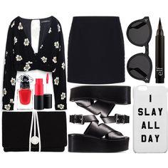 street style by sisaez on Polyvore featuring moda, Zara, Balenciaga, Alexander Wang, Torula Bags, Illesteva, MAC Cosmetics and Guerlain
