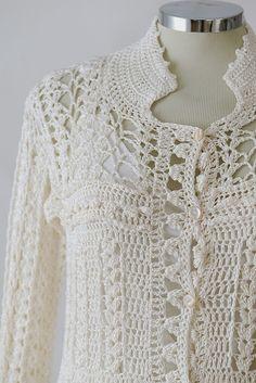 "Photo from album ""Vanessa Montoro"" on Cardigan Au Crochet, Crochet Coat, Crochet Jacket, Crochet Cardigan, Vanessa Montoro, Crochet For Boys, Love Crochet, Beautiful Crochet, Crochet Skirts"