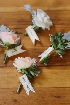 bouts, photo by Apryl Ann Photography http://ruffledblog.com/romantic-hickory-street-annex-wedding #grooms #boutonnieres